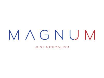 Magnum magnet minimalism logo