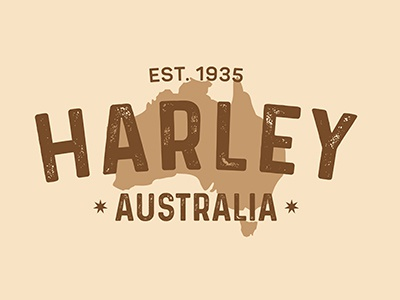 Harley australia leather logo
