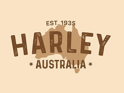 Harley australia leather logo