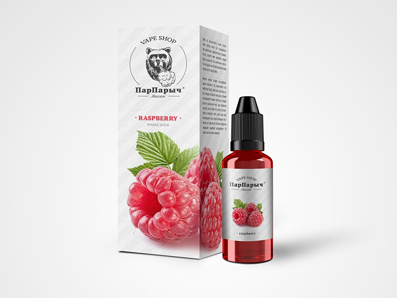 Smoke juice «ПарПарыч» packing raspberry packing vaping steam vape smoke bear