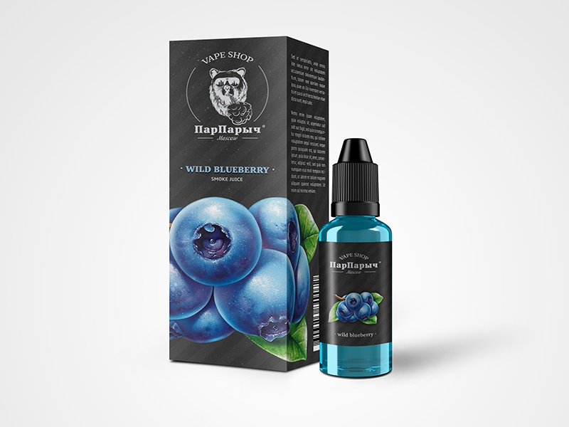 Smoke juice «ПарПарыч» packing blueberry packing vaping steam vape smoke bear