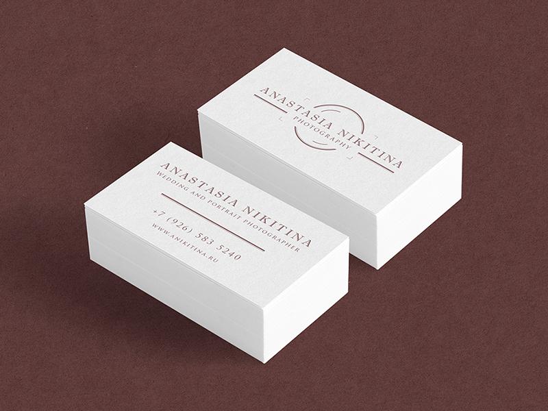Anastasia Nikitina business card photography photo photographer logo