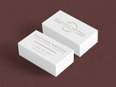Anastasia Nikitina business card