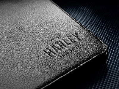 Harley wallet logo leather