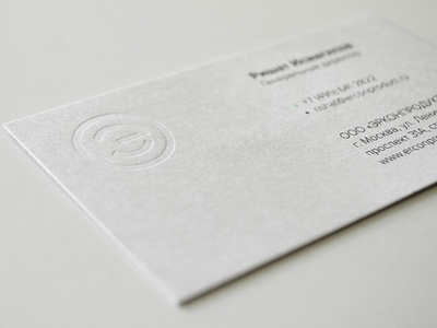 Erconproduct business card