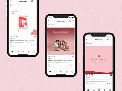 Cíclica | Content Creation menstruation marketing graphic design sustainable period menstrualcup logo branding socialmedia design women