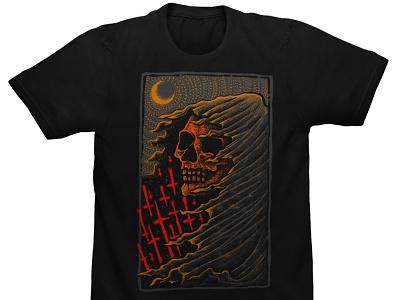 Available dotwork grim reaper clothing design dark illustration macabre horror art skull art band merch merch design illustration artwork t-shirt design