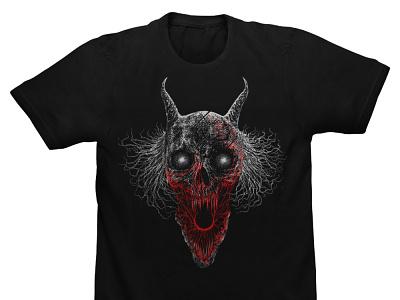 Available dotwork t-shirt design artwork illustration merch design band merch macabre skull art dark artist dark art skull