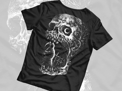 Available dotwork grim reaper horror art skull art macabre dark artist skull dark art band merch merch design illustration artwork t-shirt design