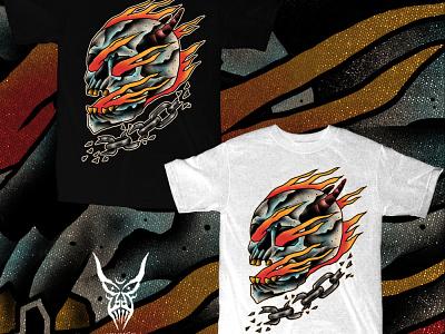 SOLD skull art skulls occult band merch merch design illustration artwork t-shirt design