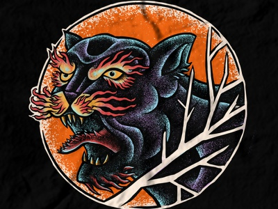 Available design band merch merch design artwork t-shirt design jaguar wild cat illustration black jaguar animalart panther