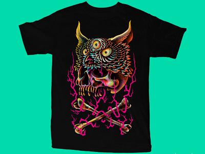 Available skull art dark artist dark art band merch merch design illustration artwork t-shirt design death night animal tree skull owl