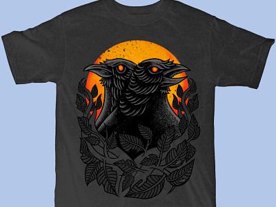 Available merchandise design clothing design apparel design tshirt design raven crow design band merch merch design illustration artwork t-shirt design