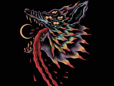 Available design band merch merch design illustration artwork t-shirt design moon wolf dog night wolves wolf