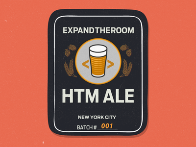 HTM ALE homebrew beer antenna cyrus highsmith label