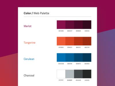 Web Color Palette color health branding style guide color palette visual identity