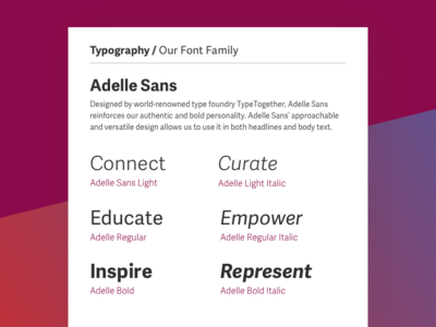 Typography adelle sans typography font family visual identity style guide health branding
