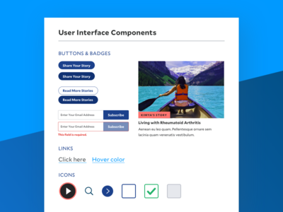 User Interface Components for Health Brand style guide health visual identity ui design ui component library branding