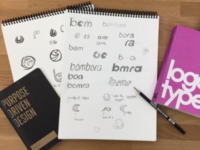 Bombora Logo Sketches bombora geometric logo wave logo logos logo visual identity branding wave symbol logo sketches