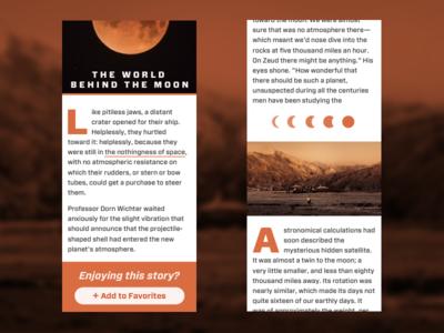 Sci-Fi Editorial Design science fiction mars moon sci-fi long form forza drop caps article editorial design