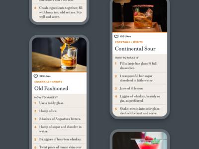 Cocktail Recipe recipe editorial design cocktails mixology