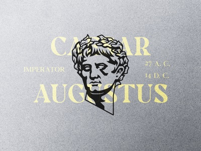 Augustus empire emperor augustus caesar rome roma face head illustration design logotype symbol mark logo