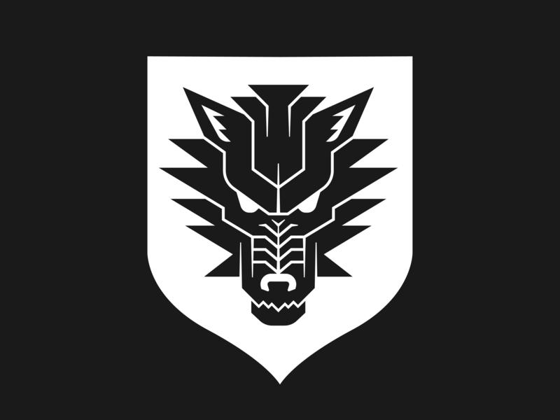 Stark Sigil norse geometric game of thrones symbol mark logo heraldry shield wolf sigil stark