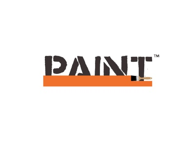 Paint Logo Concept graphic design branding logo design thirty logos