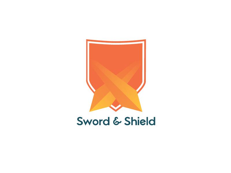 Sword Shield Logo Concept branding logo design thirty logos
