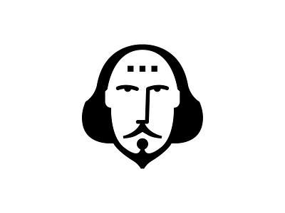 Shakespeare In Bits flat 2d design branding vector logo