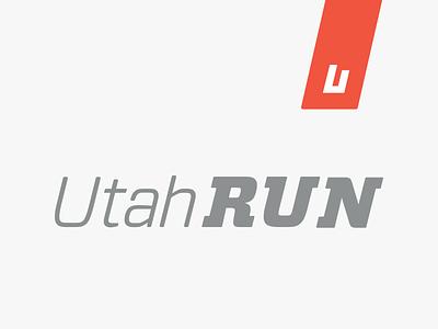 UtahRUN logotype type typography vector logo branding 2d design