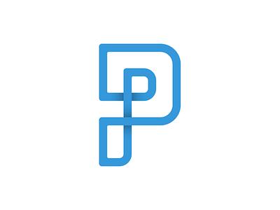 Proven Pattern type typography p vector logo branding 2d design