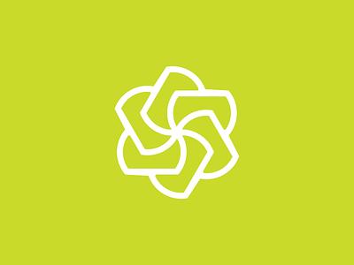 Spinrom flat vector logo branding 2d design