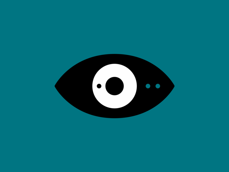 Detailed eye vector icon flat 2d design