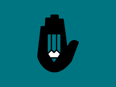Crafted pencil hand vector icon flat 2d design