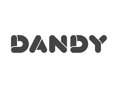 Dandy dandy type typography logo logotype branding 2d design