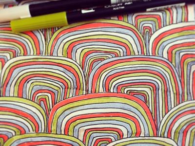 Sketchbook 2 pattern hand-drawn color
