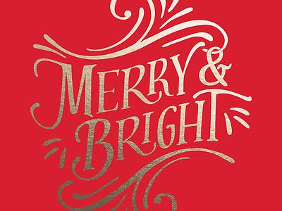 Festive Holiday Type typography holidays christmas swash flourish type