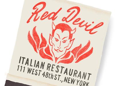 Red Devil Matchbook- #365everydayobjects devil matchbook matches instagram drawing illustration digital illustration procreate app ipad pro