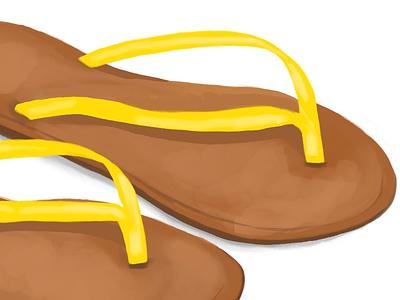 Flip Flops - #365everydayobjects flip flops illustration drawing digital illustration procreate app ipad pro