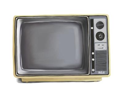 Television illustration ipad pro digital drawing television tv illustration