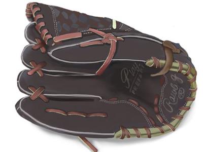 Baseball glove illustration ipad pro digital drawing baseball glove baseball