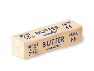 Stick of butter illustration ipad pro digital drawing illustration food butter