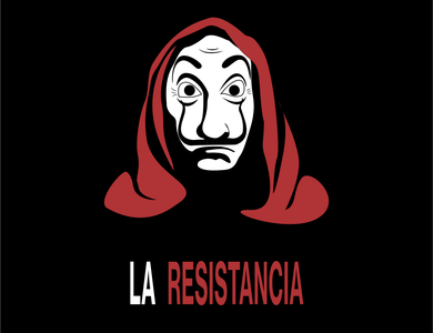 Money Heist- La Casa De Papel art minimal flat design illustrator design vector illustration flat adobe illustrator