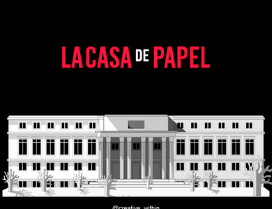 Money Heist- La Casa De Papel art minimal illustrator flat design vector illustration flat design adobe illustrator