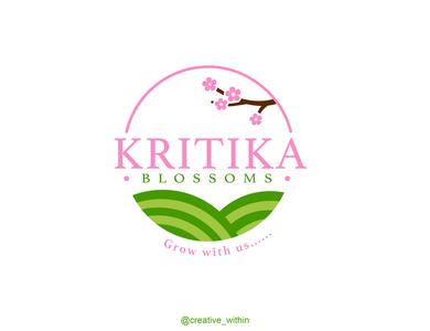 Logo Design: Kritika Blossoms website illustrator branding brand identity company logo flora vector illustration flat design logo adobe illustrator
