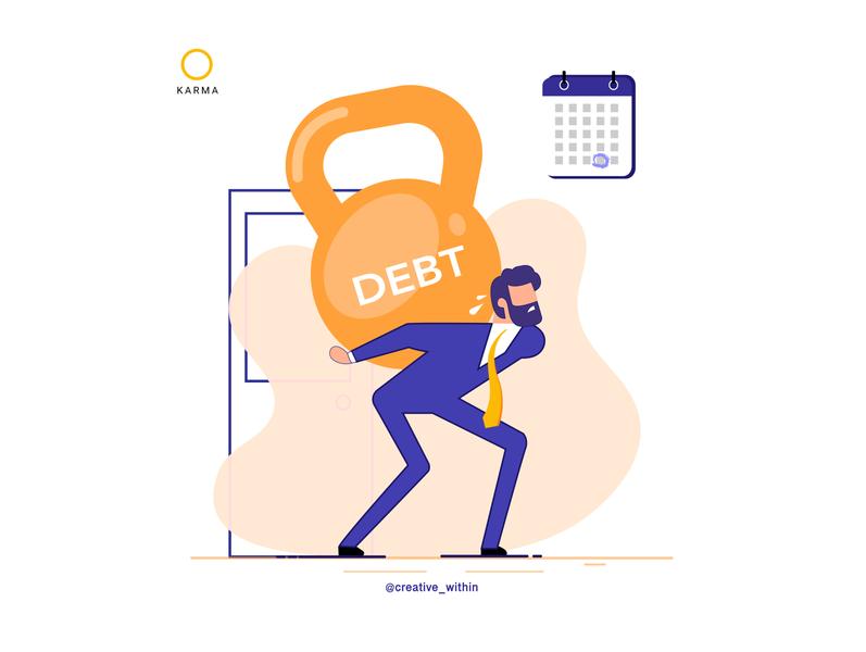 Illustration: KARMA brand finance app vector illustration website design flat adobe illustrator flat design website design web design illustration