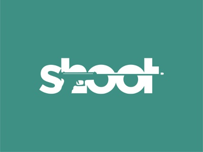 shoot typography flat logo logo design illustration