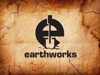 Earthworks Landscaping logo vector illustration logo design branding graphic design