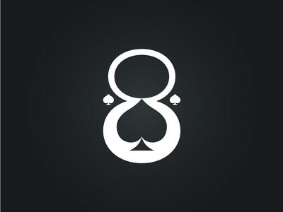 Aces&Eights vector illustration logo design graphic design branding